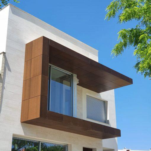 Compacto Exterior FunderMax. Proyecto instalación en fachada