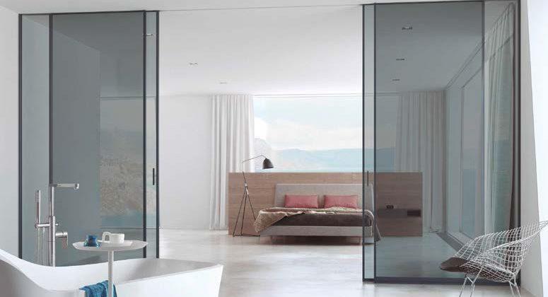 puerta aluminio vidrio corredera 2 fijos + 2 practicables