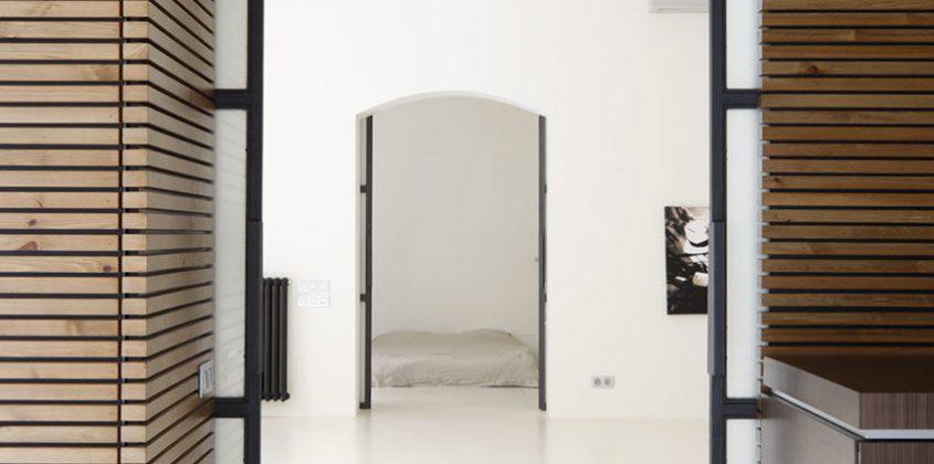 puertas de paso corredera vidrio Krona kit-futura