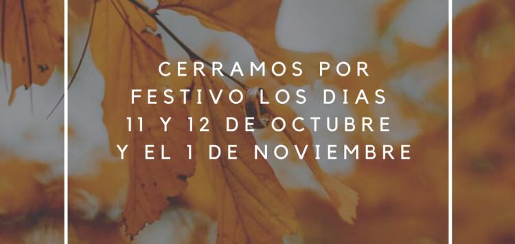 Festivos Octubre y Noviembre
